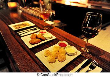 nourriture, Cuisine, -, restaurant