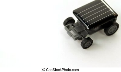 Toy car on solar panel is not moving, with an increase in...