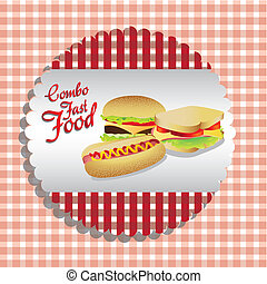 fast food combo label