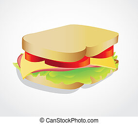 illustration of a sandwich