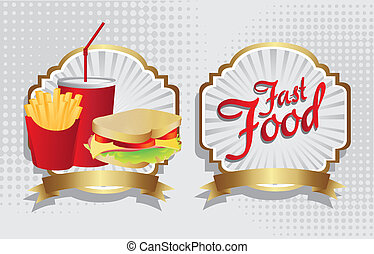 label of a sandwich combo with french fries and soda