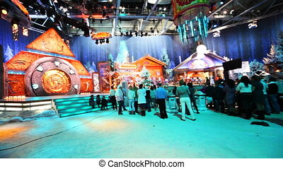 Shooting New Year TV show on NTV channel - MOSCOW - NOV 21:...