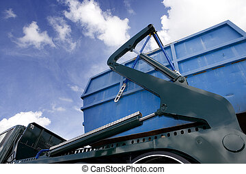 Cargo Container on a truck close up
