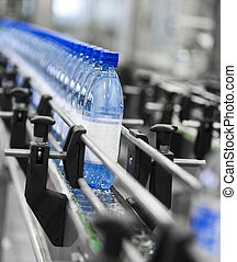 Bottle industry - Close up of bottle industry