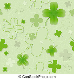 Four Leaf Clover Pattern - Repetitive Pattern, Illustration...