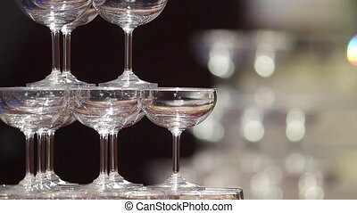 Wedding Glasses - Glasses before an wedding reception
