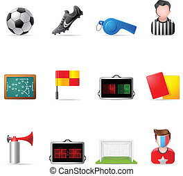 Web Icons - Soccer - Soccer related icons. EPS 10 with...