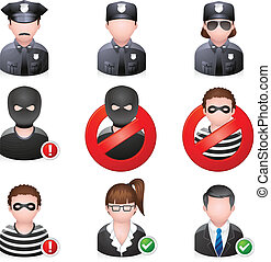 People Icons - Security - Security people icon EPS 10 with...