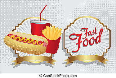 hot dog combo with french fries and soda