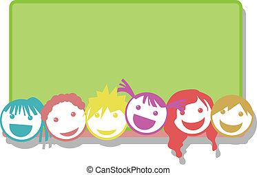 children face background