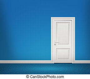 Door in the Blue Wall