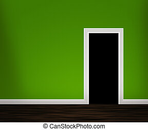 Open Door in the Green Wall