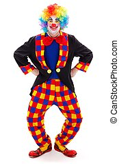 Clown in funny posture