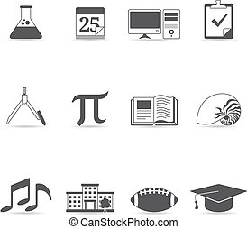 Single Color Icons - More School - More school icon set in...