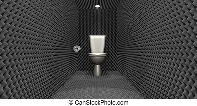 Soundproof Toilet Cubicle - A crude concept depicting a...