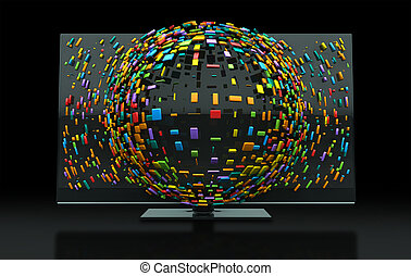 3DTV Television Concept - A 3DTV Television concept of a...