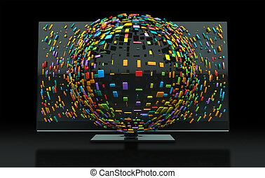 3DTV, televisión, concepto