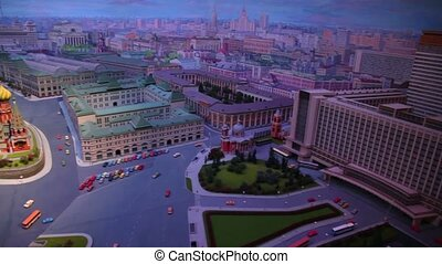 Night diorama Moscow - capital of USSR by Yefim Deshalyt for...