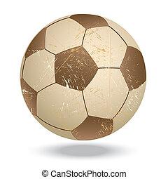 soccer-vintage - illustration of highly rendered vintage...