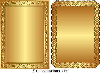 golden backgrounds - golden background with ornaments