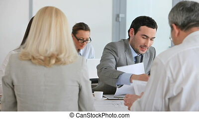 Business proposition - Team with the leader at the head...