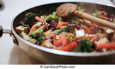 Tofu vegetable Stir fry - Tofu and vegetable stir fry cooks...