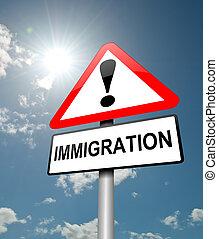 imigração, conceito