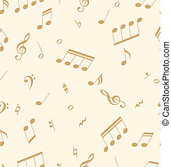 Seamless abstract pattern with music symbols Vector...