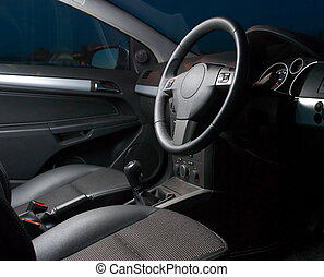 inside of a modern car