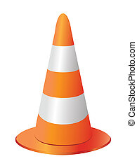 Traffic cone - traffic cone isolated on white background
