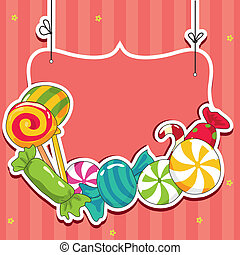 Sweets on strings Vector illustration