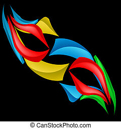 Abstract forms - Colorful abstract forms. Illustration on...