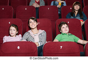 Mother and children in the movie - Mother and children are...