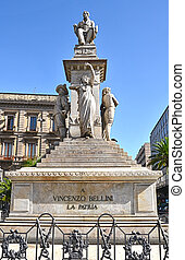 Catania - Statue of the composer Vincenzo Bellini, a native...