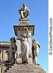 Catania - Statue of the composer Vincenzo Bellini, a native...