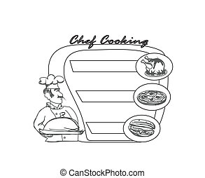 chef serving dishes - frame