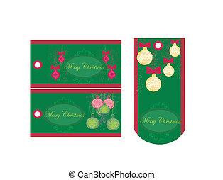 Christmas price tags collection
