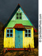 A Rustic Colorful House - An old abandoned colorful house