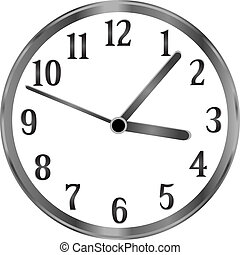 Silver clock, time, year, passing simple concept