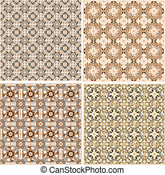 Seamless patterns in islamic style. Vector set - Vector set...