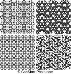 set of vectorial texture islamic design set