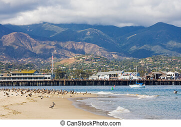 Santa Barbara Sandspit - The entrance to Santa Barbara...