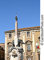 Catania - The elephant icon of the historical center of...