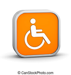 Wheelchair Accessible sign on a white background Part of a...