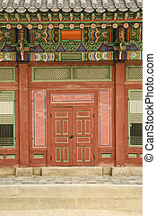 traditional architecture detail in seoul south korea palace
