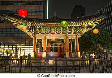 temple in central seoul south korea