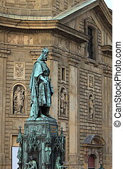 Statue of King Charles IV in Prague, Czech Republic