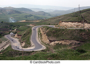 Corniche - The Caucasus mountain road Ust-Dzheguta -...