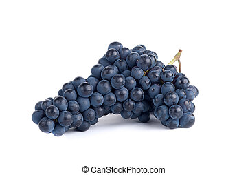 Red Grapes - Red Bunch of Grape Isolated On White