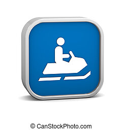 Snowmobile sign on a white background Part of a series